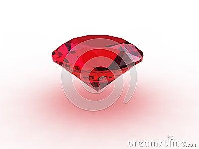 Red Ruby Gemstone On White Background Stock Image - Image ...