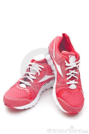 Free Red Running Sports Shoes Royalty Free Stock Images - 23919279