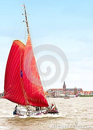 Red Sailboat, Volendam