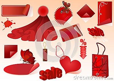 Red sale design elements