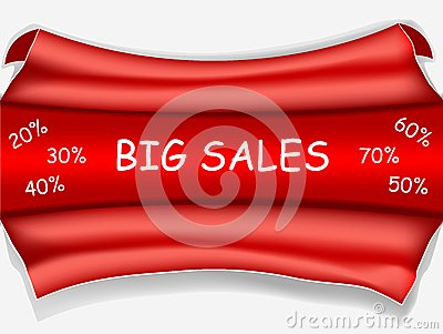 Red sale poster - big sale