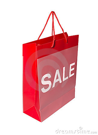 Red SALE shopping bag