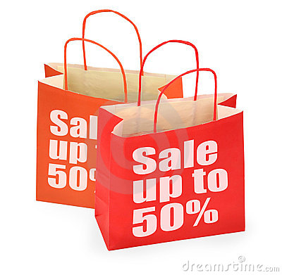 Red sale shopping bags
