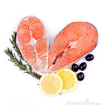 Red salmon fish