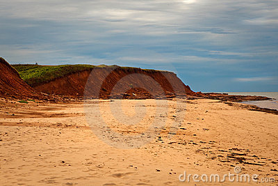 Red Sand Cliff Of Prince Edward Island, Canada