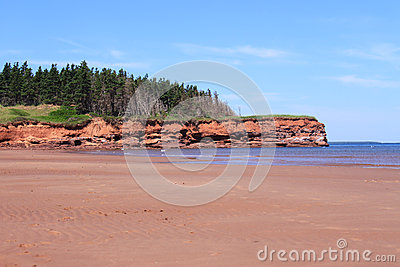Red sand cliffs