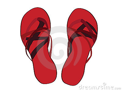 Red Sandals Illustrated