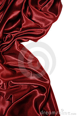 Red satin