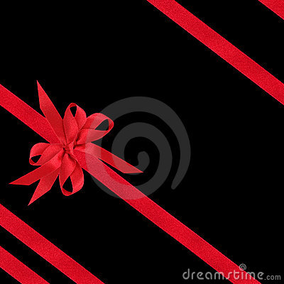 Red Satin Bow and Ribbons