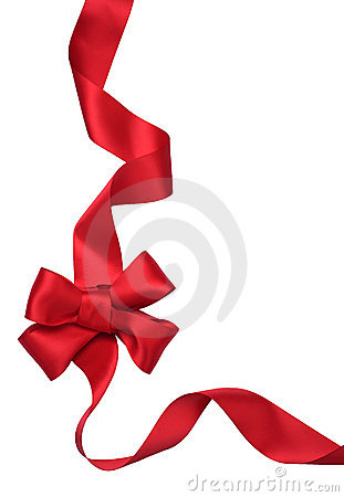 Free Red Satin Gift Bow. Ribbon Stock Photo - 17369620