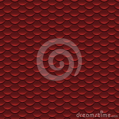 Red Scales Seamless Pattern