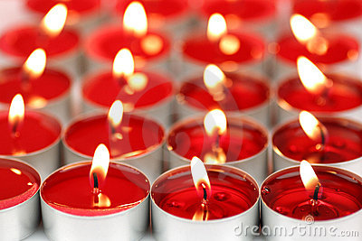Red scented candles