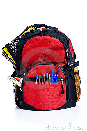 Free Red School Back Pack Royalty Free Stock Photos - 6490308
