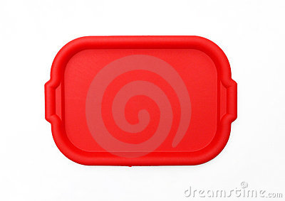 Red School Lunch Serving Tray / Plate