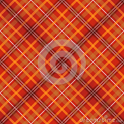 Red scottish checked fabric seamless pattern