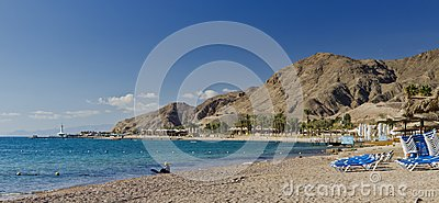 Red Sea and beaches near Eilat, Israel