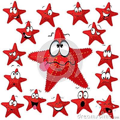 Red sea star cartoon