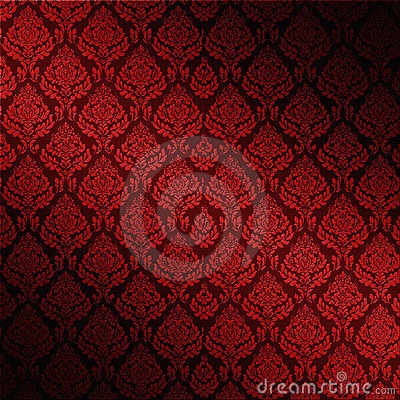 Red Seamless Damask