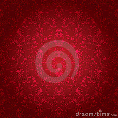 Free Red Seamless Ornate Pattern Royalty Free Stock Image - 13761316