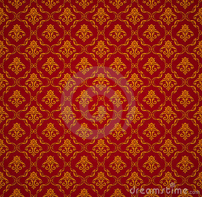 Victorian wallpaper pattern red - photo#12