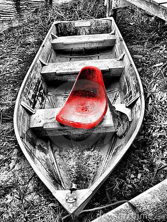 Free Red Seat In Old Boat Royalty Free Stock Photo - 3737725