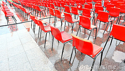 Red seat rows