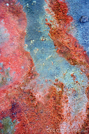 Red sediments in hot spring background