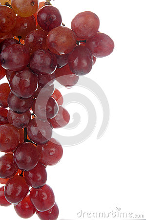 Red seedless grapes