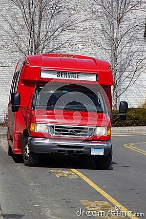 Red Service Van
