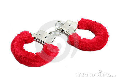 Red Sexual Handcuffs Stock Image - Image: 13622111