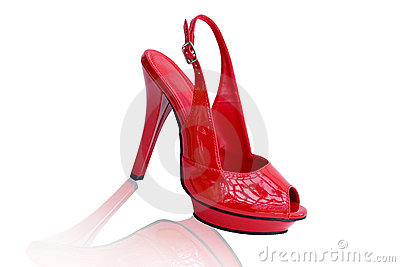 Red Sexy Shoe Sandal (With Clipping path)