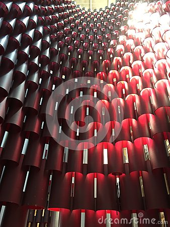 Free Red Shaded Pattern Of Cylinder Tower Royalty Free Stock Photography - 118901547