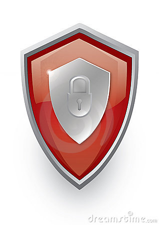 Red shield icon