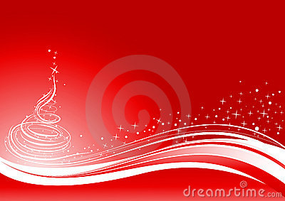 Red Shine Christmas Background