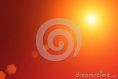 Red shine rays burst