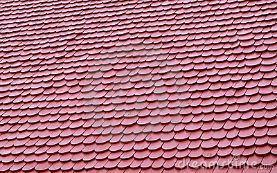 Red shingled roof