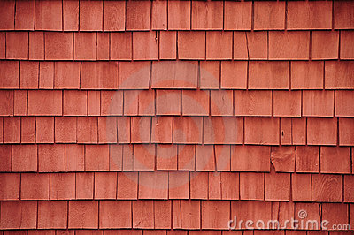 Red shingles on a barn