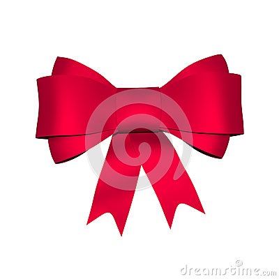 Red shiny bow