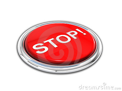Red shiny stop button