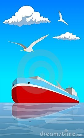 Free Red Ship Stock Photography - 2554672