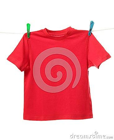 Free Red Shirt Royalty Free Stock Image - 52097586