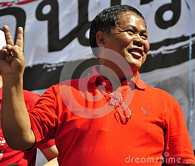 Red-shirt core member Kwanchai Praipana Editorial Photo