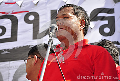 Red-shirt leader Kwanchai Praipana Editorial Photo