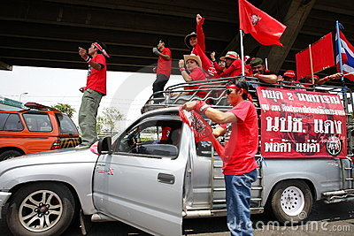 Red shirt protest bangkok Editorial Stock Image