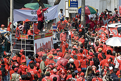 Red Shirt Protest - Bangkok Editorial Photo