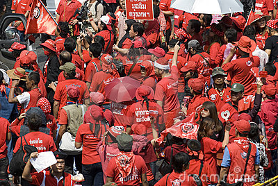 Red Shirt Protest - Bangkok Editorial Photography