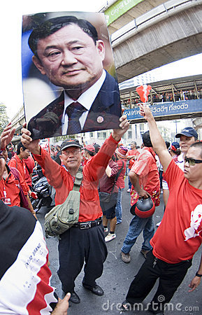 Red Shirt Protest - Bangkok Editorial Photography