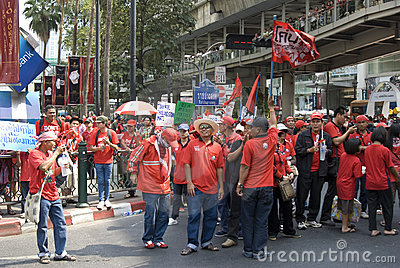 Red Shirt Protest - Bangkok Editorial Stock Image