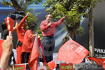 Red Shirt Protest - Bangkok Editorial Image