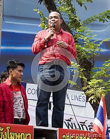 Red Shirt Protest - Bangkok Editorial Stock Image